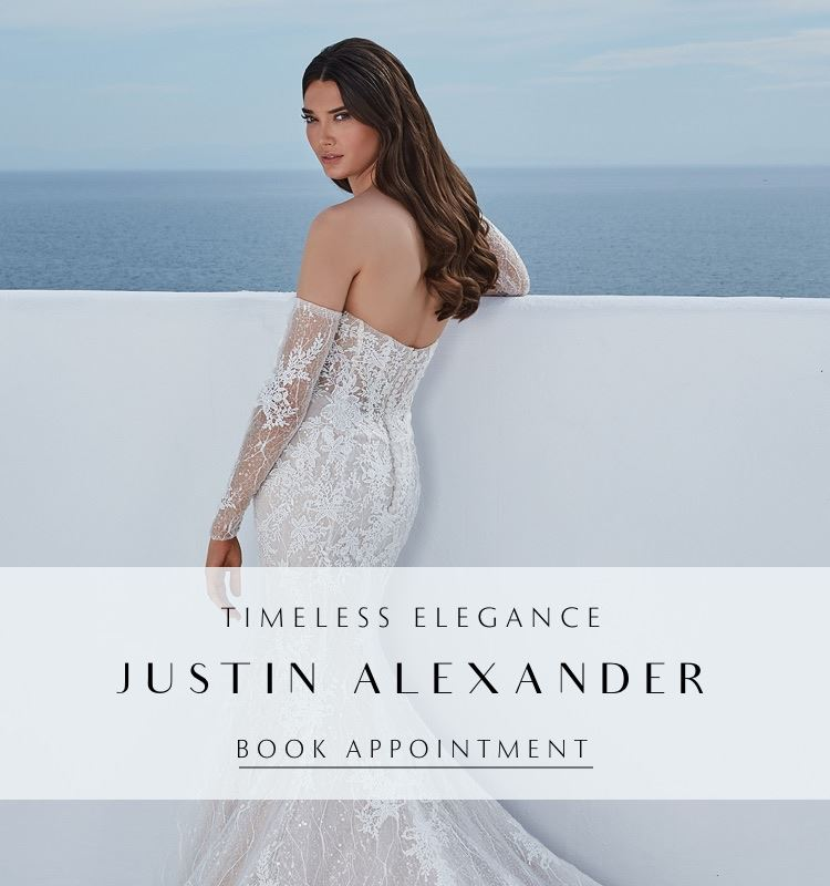Justin Alexander at Laced with Grace Bridal. Mobile image.
